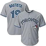 pr_Blue Jays Mens Jose_Bautista 19# Jersey Gray Toronto Baseball