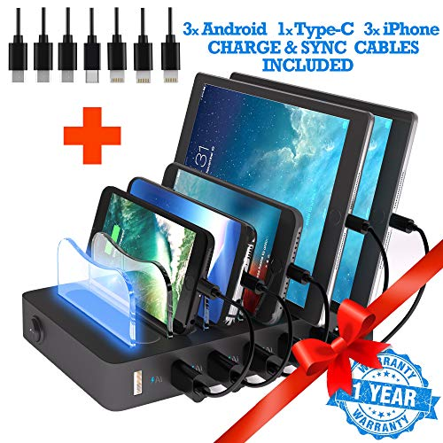 TIMSTOOL 6 USB Charging Station for Multiple Devices - No...