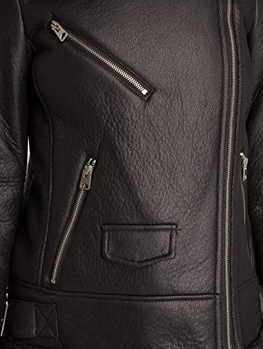 Black Jacket Moda Vmpop Biker Vero Nero Bomber By ZpS6q