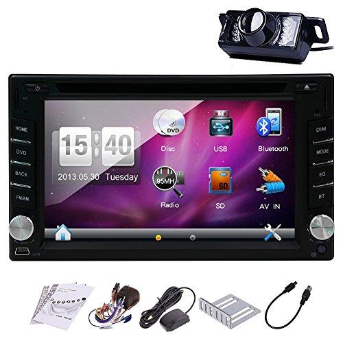 Pupug 6.2 Inch Double Din In Dash GPS Car DVD Player USB SD Bluetooth PC Radio Navigation Camera Auto PC Video Audio Vehicle Stereo Headunit