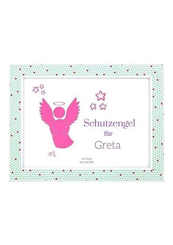 Schutzengel Für Baby Geschenk Zur Geburt Taufe Oder Geburtstag Rosa Bild Für Mädchen Din A5