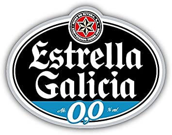 valstick Estrella Galicia Beer Logo Car Bumper Sticker Decal