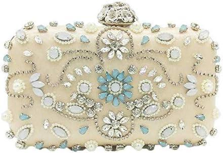 ブランドクリスタルとビーズパッチワークの女性の花のイブニングドレス財布、ハンドバッグ、ウェディングカクテルボール花嫁のクラッチ、古典的な優雅さ 美しいファッション