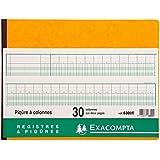 Exacompta 6300E Piqure 25/32 30 Colonnes 80 Pages-coloris assortis