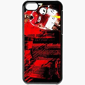 Personalized iPhone 5C Cell phone Case/Cover Skin Nani Nani Manchester United Football Black