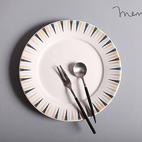 Estilo Europeo Plato de Cena Redondo, Filete, Espaguetis, Pizza ...