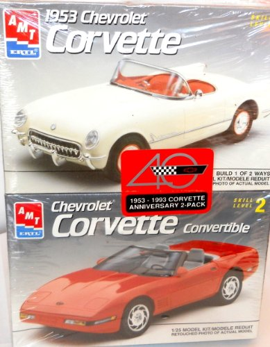 Chevrolet Corvette Convertible 1953 - 1993 AMT ERTL Anniversary 2-pack 1/25 Model Kit Modele Reduit