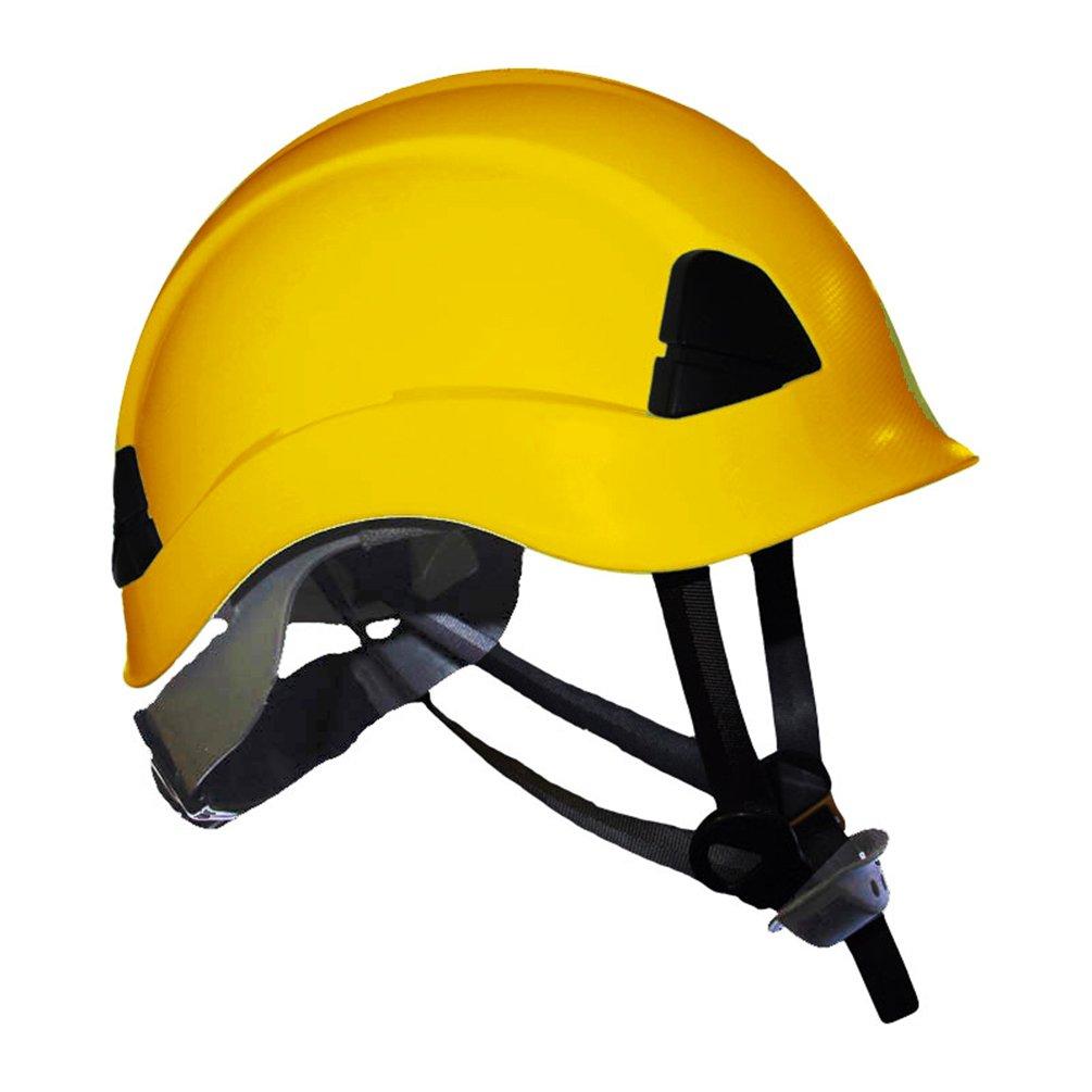 ProClimb Gem Work and Rescue ANSI Yellow Helmet Z89.1-2014 Type I Class E Certified with drawstring storage bag