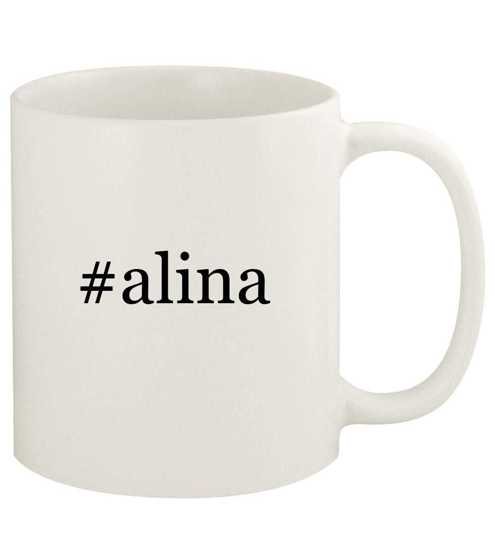 #alina - 11oz Hashtag Ceramic White Coffee Mug Cup, White