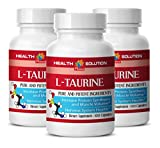 Taurine hair - L-TAURINE 500MG - increase testosterone levels (3 Bottles)