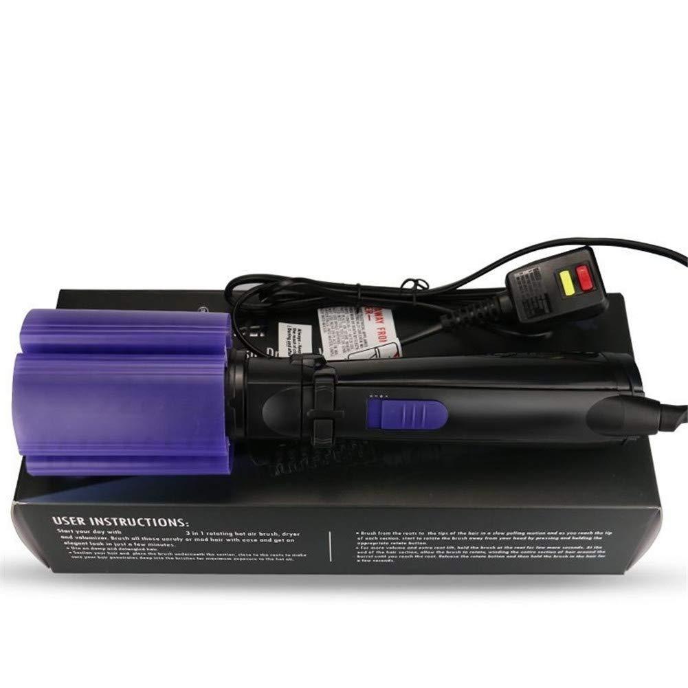 Cepillo redondo giratorio automático Soplado Planchas de rizado Secador de cepillo de aire caliente Ondas Rizos Volutas Flicks Pelo giratorio 1 Cepillo: ...