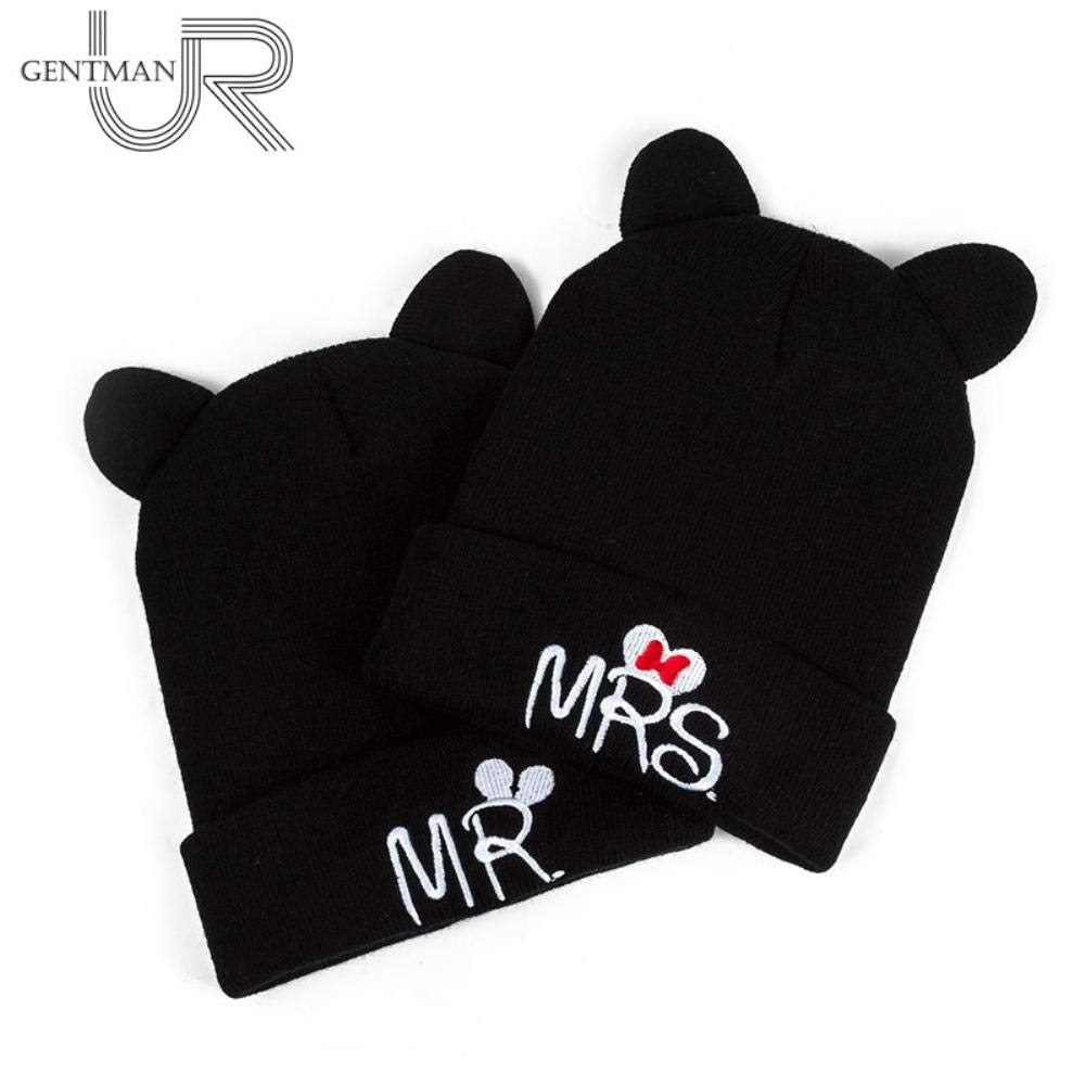 New Children MR and MRS Knit Hats Solid Winter Hats Boys Girls Ear Beanies (Mr Black) at Amazon Mens Clothing store: