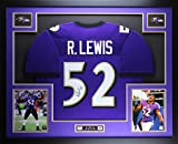 Ray Lewis Autographed Purple Ravens Jersey - Beautifully Matted and Framed - Hand Signed By Ray Lewis and Certified Authentic by JSA COA - Includes Certificate of Authenticity