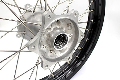 KKE HONDA MX COMPLETE CASTING WHEELS RIMS SET 21/19 CR125R CR250R 96-99 CR500R 96-01 by KKE (Image #3)