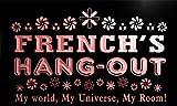 pq1442-r FRENCH's Hang Out Girl Kid's Room Light Princess Neon Sign