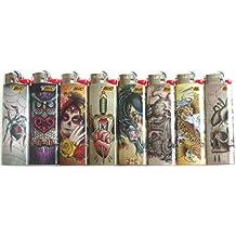 Bic Tattoo Masters Series Lighters Lot of 8