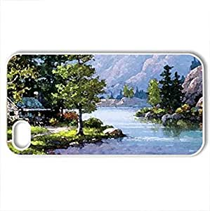 Sung Kim - Case Cover for iPhone 4 and 4s (Rivers Series, Watercolor style, White)