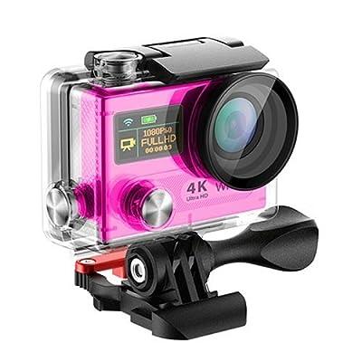 MASSWELL(TM) Pro Best 4K HD Waterproof Action Sport Shot Video Camera Wifi(Black/Pink)