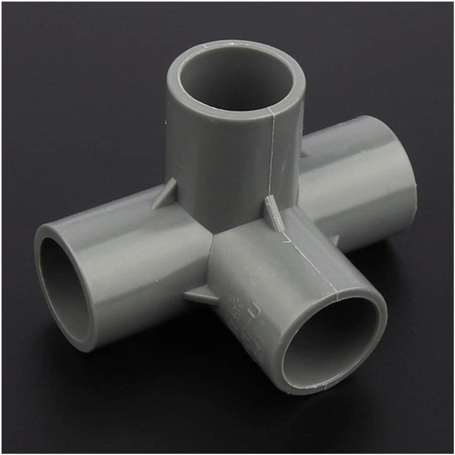 Pipe connector 40mm PVC Pipe Connector Stereoscopic 4Ways Drip Irrigation Fittings Aquarium Tank DIY Tube Adapter Garden Water Connectors12//24//48pcs Color : Gray Stereo 4 Ways, Diameter : 12pcs
