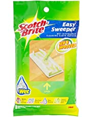 Scotch-Brite Easy Sweeper Wet Sheets Refill, Green, Pack of 8, (2724563683491)