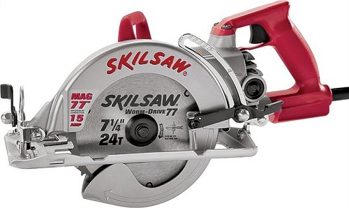 Skil SPT77WML-22 7-1/4 in. Lightweight Magnesium Worm Drive Circular Saw with Diablo Carbide Blade For Sale