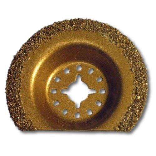 "KENT, 2-1/2"" Carbide Coated Semi Circular Oscillating Multi Function Saw Blade, For: Cement, Granite, Brick, Fits Fein Multimaster, Fein FMM250Q, Bosch, Chicago, Milwaukee"
