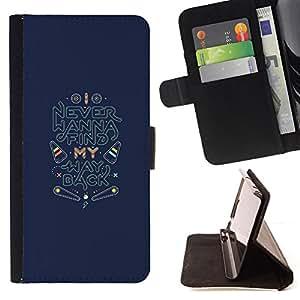 """For Motorola Moto E ( 2nd Generation ),S-type Volver Encuentra Inspirational Quotes"""" - Dibujo PU billetera de cuero Funda Case Caso de la piel de la bolsa protectora"""