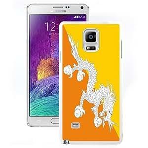 Beautiful Unique Designed Cover Case For Samsung Galaxy Note 4 N910A N910T N910P N910V N910R4 With Bhutan Flag White Phone Case