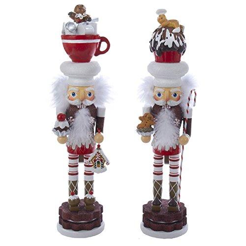 Kurt Adler Cocoa And Cupcake Hat Nutcracker by Kurt Adler