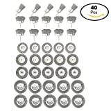 YaeTek 40 PCS. WIRE WHEELS AND CUP BRUSHES FOR DRILLS