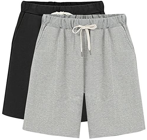 Details about  /Grey Marl Viscose Jersey Shorts with lace trim sizes 8 10 12 16