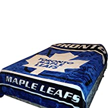 Toronto Maple Leafs Blanket- Maple Merchandise is Perfect for Decor, Gifts, Accessories, Memorabilia, Collectables- This is a Soft, Plush, Thick, Queen/Full Size Mink Blanket-Life Time Guarantee