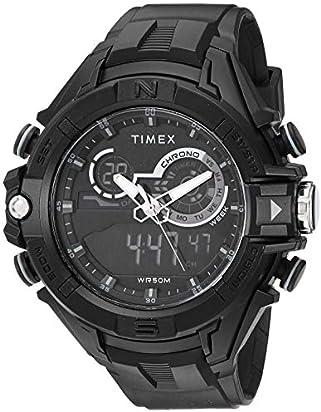 Timex Men's TW5M23300 DGTL 47mm Bold Combo Black/Negative Resin Strap Watch