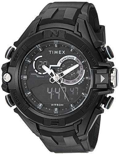 Timex Men's TW5M23300 DGTL 47mm Bold Combo Black/Negative Resin Strap ()