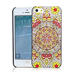 LX 3D Relievo Colorful Sunflower Pattern PC Hard Case for iPhone 5/5S Protective Case