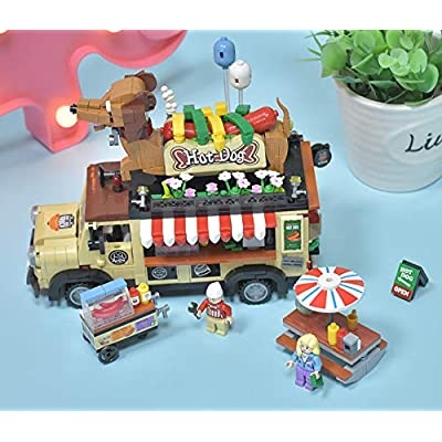 LOZ Hot Dog Hotdog Store Car Building Blocks Micro NO.1116 Compatible Nano Chistmas Bithday Gifts for Kids DIY Figures Assemble Educational Toys Model Kits: Toys & Games
