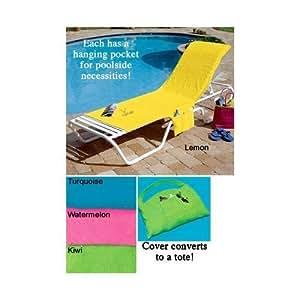 Amazon Com Terry Cloth Lounge Chair Cover Pool Beach