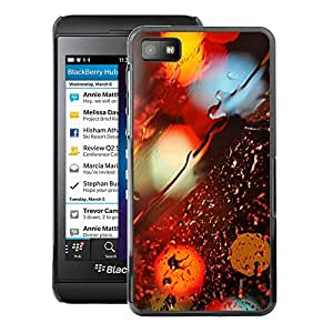A-type Arte & diseño plástico duro Fundas Cover Cubre Hard Case Cover para Blackberry Z10 (Colors City Lights Sad Vibrant Night Reflection)