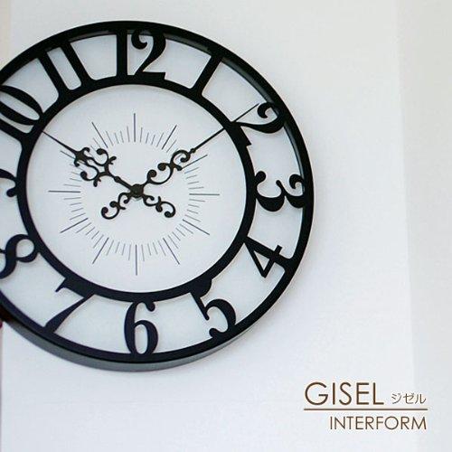 ウォールクロック<GISEL>CL-4960 ブラック B00385UV1M