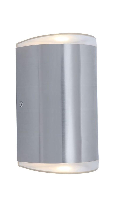 LUTEC Außenleuchte, Metall, Silber, 27,5 x 21 x 24 cm [Energieklasse A+] LUTEC Außenleuchte ECO-LIGHT ST6057
