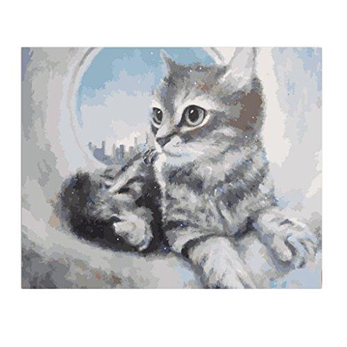 Homyl デジタル油絵 芸術作品 塗料付き 背景装飾 猫