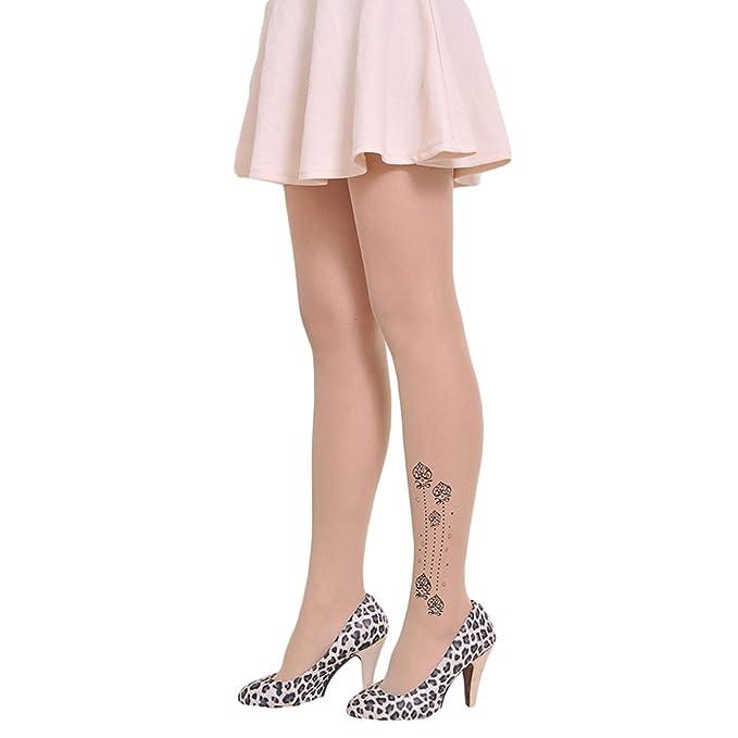 Qingsun Damen strümpfe Tattoo-Muster Strumpfhose Strümpfe ...