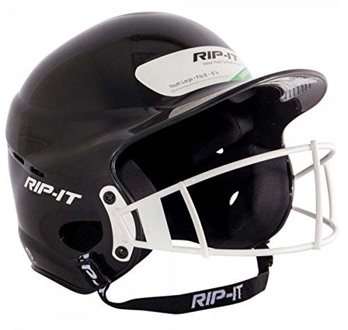 RIP-IT Vision Pro Softball Helmet ft. Blackout Technology - Black - Youth (5000 Batting)