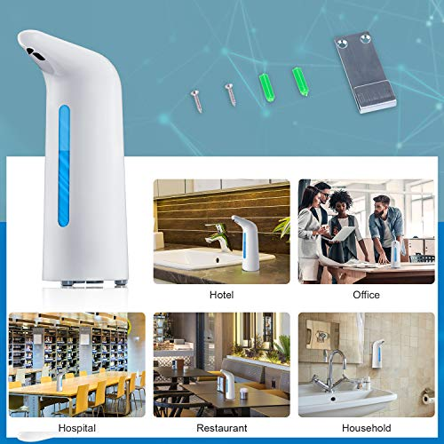 Automatic Soap Dispenser, Touchless Hand Soap Dispenser, Countertop/Wall Mounted Soap Dispenser[17oz / 500ml, Battery Operated] with Infrared Motion Sensor Waterproof Base for Office, Station etc.
