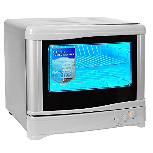 Triprel Inc 2 in 1 Hot Towel Warmer Uv Sterilizer Dual Cabinet Massage Salon Spa Facial - 23 Liter by Triprel Inc