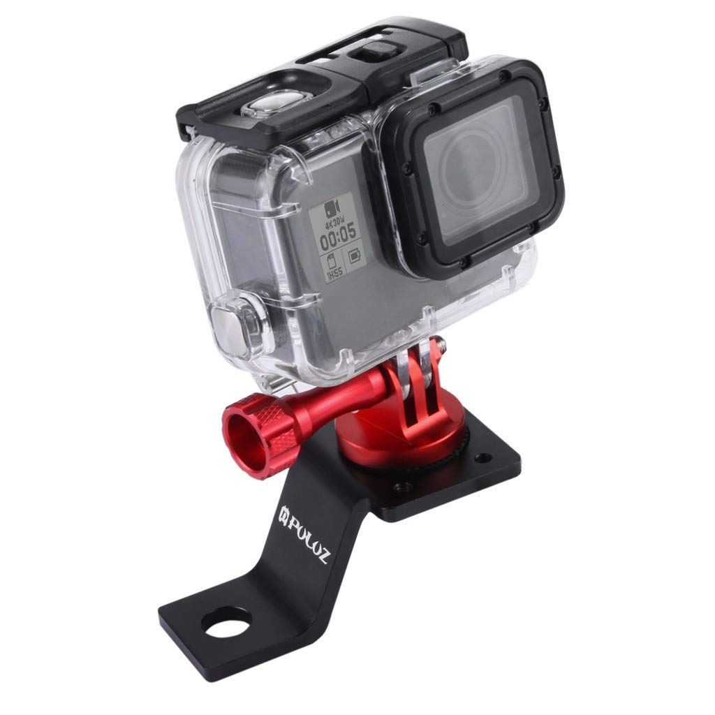 2 x Universal Camera Motorcycle Mount Adapter Hole 11mm for GoPro Black+Red