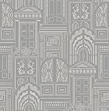 Arthouse Sophie Conran Reflections Luxury Flock Wallpaper Wallcovering Opening Doors Ash 950803