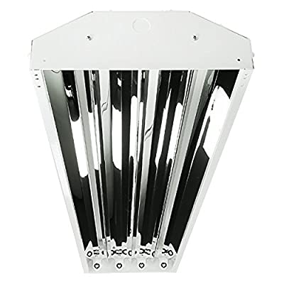 Fluorescent High Bay Light - 4 Lamp - F54 T5 HO - 120/277 Volt - Four Bros Lighting HB4-T5