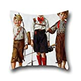 norman york - Oil Painting Norman Rockwell - Catch, The Pillow Shams 20 X 20 Inches / 50 By 50 Cm Gift Or Decor For Monther,outdoor,relatives,indoor,wedding,sofa - Twice Sides