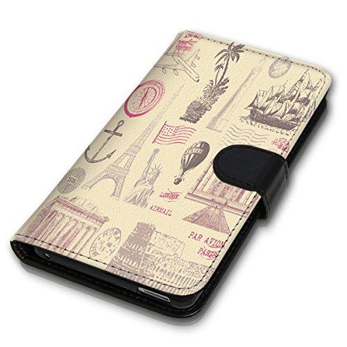 Wallet Book Style Flip Handy Tasche Case Schutz Hülle Schale Motiv Etui für Apple iPhone 6 Plus / 6S Plus - Design Flip MVD338